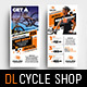 Cycling Shop Rack Card Template