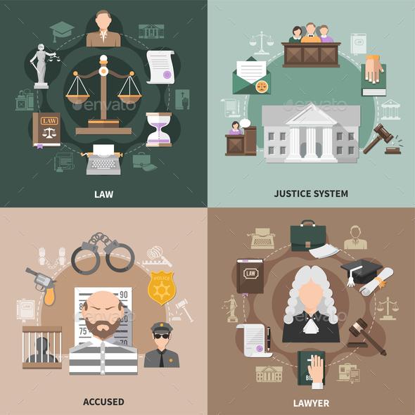 Public Justice Design Concept - Miscellaneous Vectors