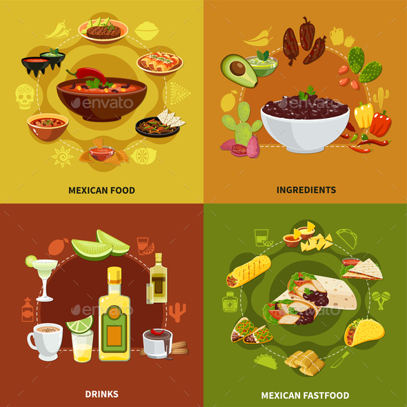 Mexican Food Design Concept - Food Objects