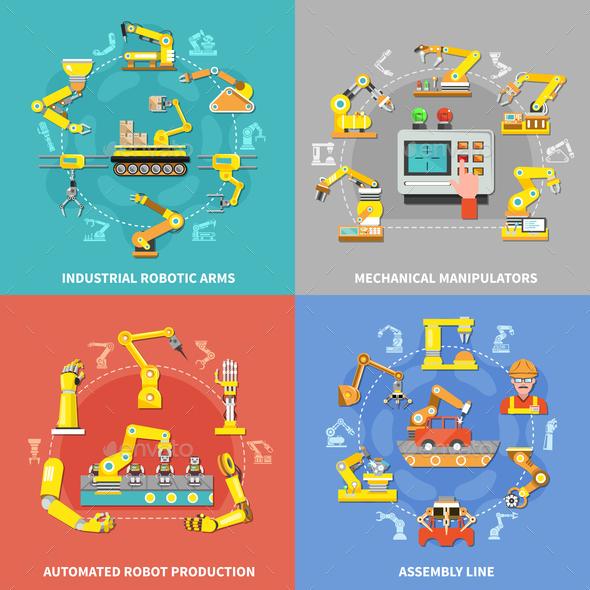Robotic Arm Concept - Industries Business