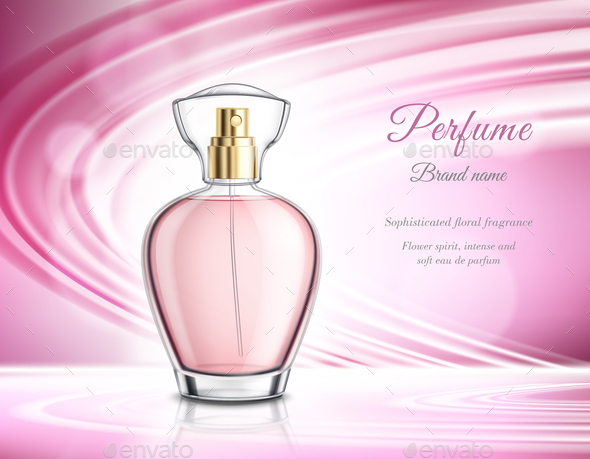 Perfume Product Realistic Advertisement Poster - Man-made Objects Objects