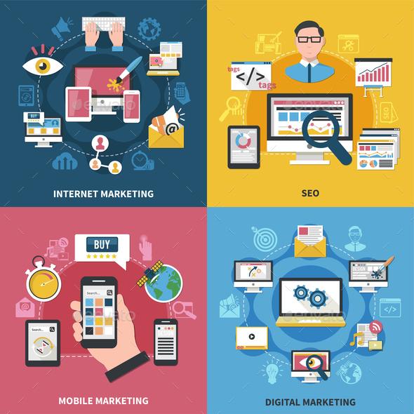 Internet Marketing Design Concept - Web Technology