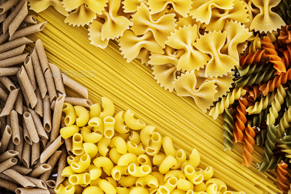 Close up of mixed of pasta - Stock Photo - Images