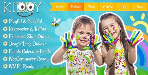 15+ Kindergarten and Elementary School WordPress Themes 2019 1