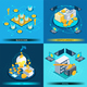 Blockchain Cryptocurrency Isometric Design Concept - GraphicRiver Item for Sale