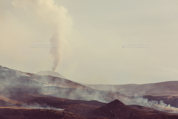 Volcano in Peru - Stock Photo - Images