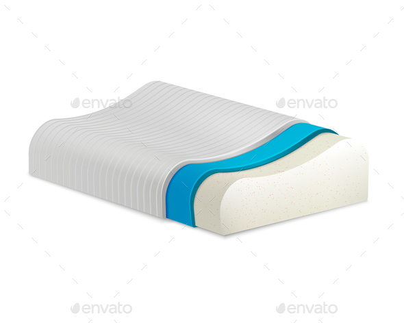 Orthopedic Pillow Realistic Composition - Health/Medicine Conceptual