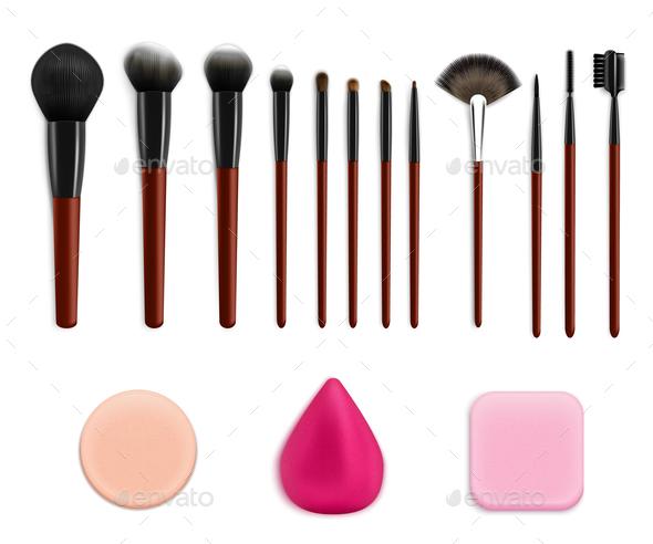 Cosmetic Makeup Tools Set - Miscellaneous Vectors
