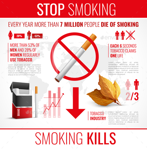 Tobacco Products Infographic Set - Miscellaneous Conceptual