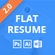 Flat | Resume Curriculum Vitae Template - GraphicRiver Item for Sale