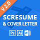SCRESUME | Resume CV And Cover Letter Template - GraphicRiver Item for Sale