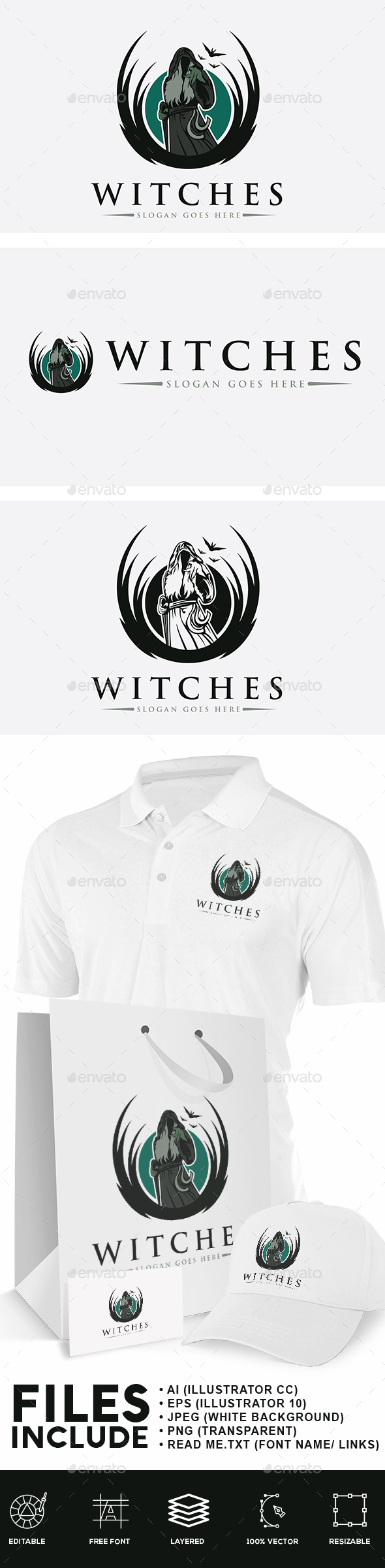 Witches Logo - Humans Logo Templates