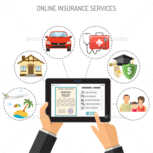 Online Insurance Services - Services Commercial / Shopping