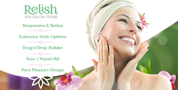Relish - Spa Salon WordPress Theme - Health & Beauty Retail