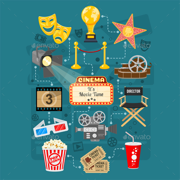 Cinema and Movie Infographics - Concepts Business