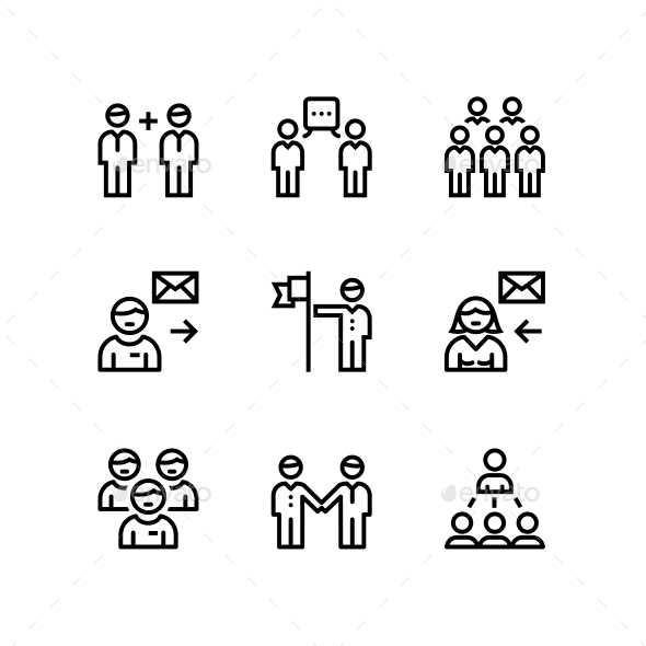 Business People, Meeting, Team Work Icons for Web and Mobile Design Pack 2 - Business Icons