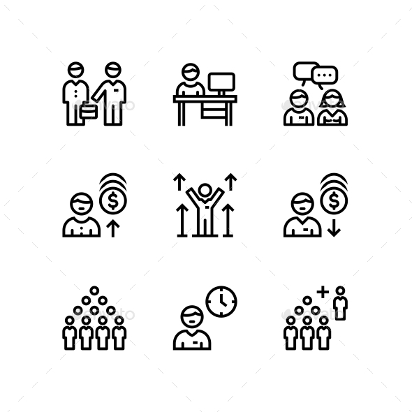 Business People, Meeting, Team Work Icons for Web and Mobile Design Pack 3 - Business Icons