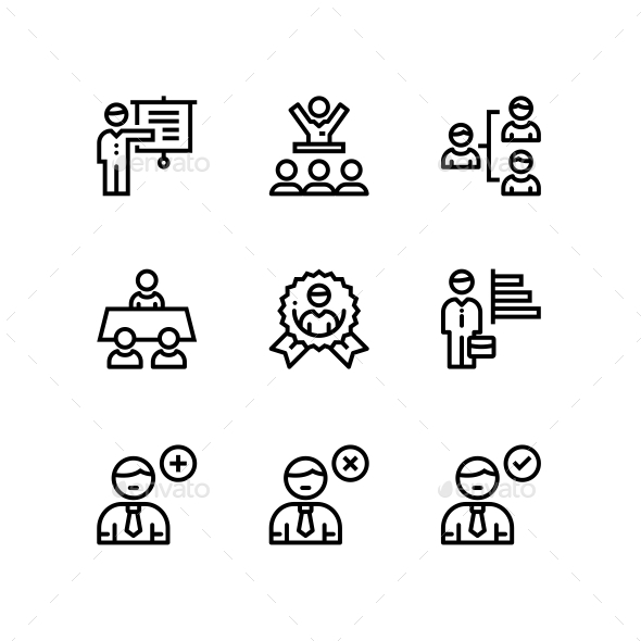 Business People, Meeting, Team Work Icons for Web and Mobile Design Pack 4 - Business Icons
