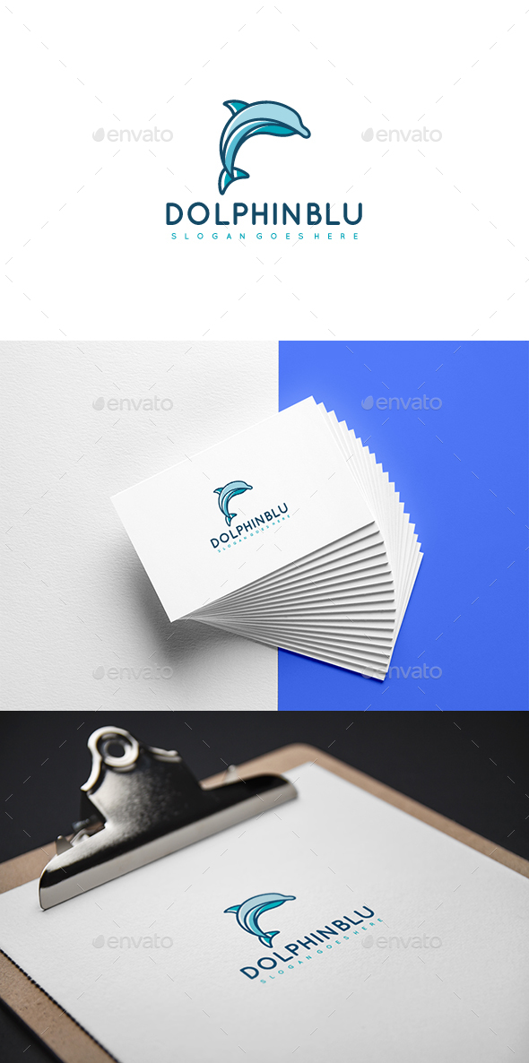 Blue Dolphin Logo - Animals Logo Templates