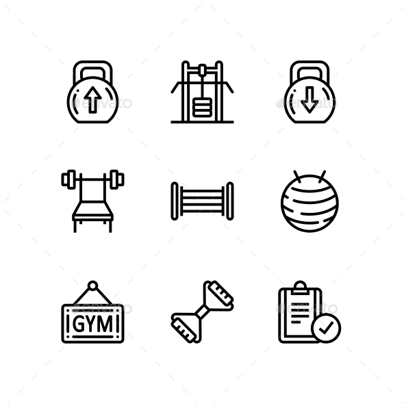 Workout, Fitness, Gym Icons for Web and Mobile Design Pack 4 - Icons