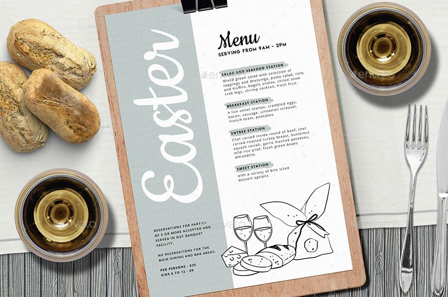 easter menu template by brandpacks graphicriver