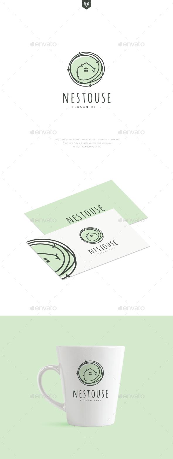 Nest House Logo - Nature Logo Templates