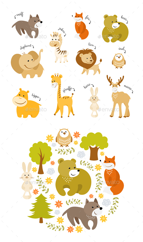 Animals Vector Set - Animals Characters