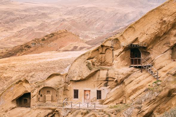 Sagarejo Municipality, Kakheti Region, Georgia. Ancient Rock-hew - Stock Photo - Images