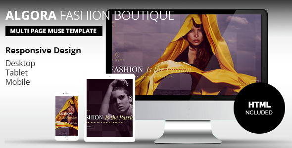ALGORA Fashion Boutique  Muse Template - eCommerce Muse Templates
