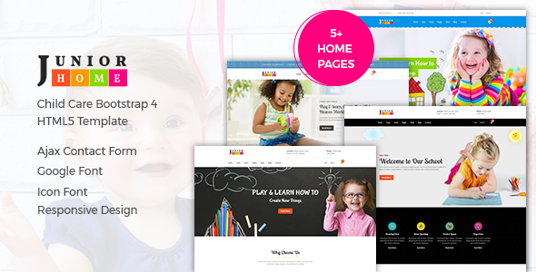 Image of JuniorHome - Day Care & Kindergarten School Bootstrap4 Template