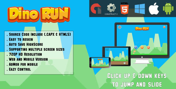 Dino Run Adventure - (capx & HTML5) - CodeCanyon Item for Sale