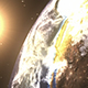 Sun Rises Over Earth and Moon In Space - VideoHive Item for Sale