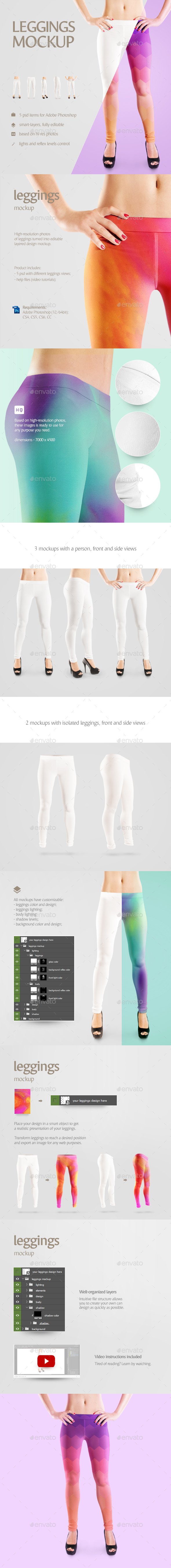 Leggings Mockup - Miscellaneous Apparel