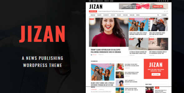 Jizan | A Newspaper and Magazine WordPress Theme Free Download