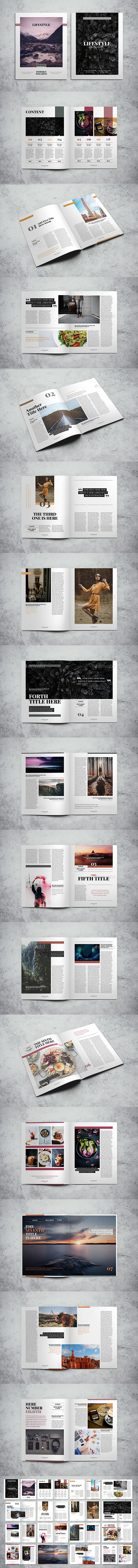 Lifestyle Magazine Indesign Template - Magazines Print Templates