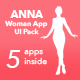 Anna | Women Mobile App UI Pack - ThemeForest Item for Sale