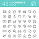 E-commerce set vector icons shopping and online - GraphicRiver Item for Sale