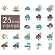 Meteorology Weather flat icons set - GraphicRiver Item for Sale