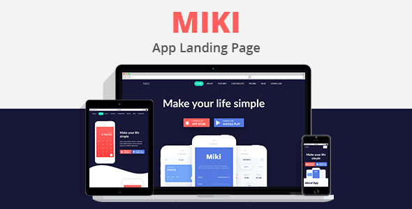 MIKI - Landing Template - Technology Site Templates