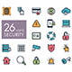 Security outline web icon set - GraphicRiver Item for Sale