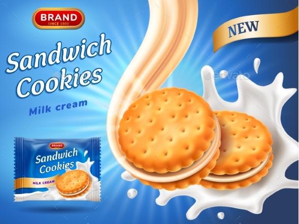 Sandwich Cookies Ads - Food Objects