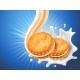 Sandwich Cookies with Vanilla Cream Flow