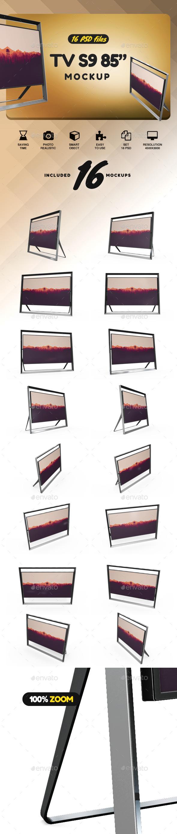 "85"" Smart Tv Mockup - TV Displays"