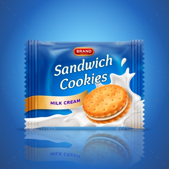 Sandwich Cookies or Cracker Package Design - Food Objects