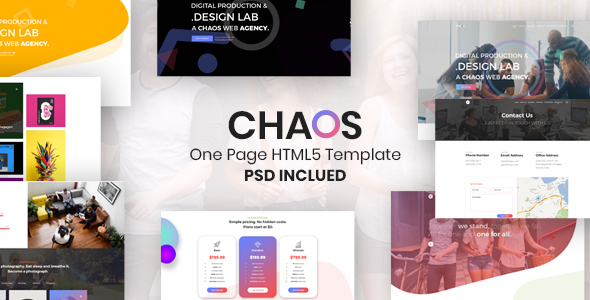 Chaos - Creative Parallax One Page HTML5 Template