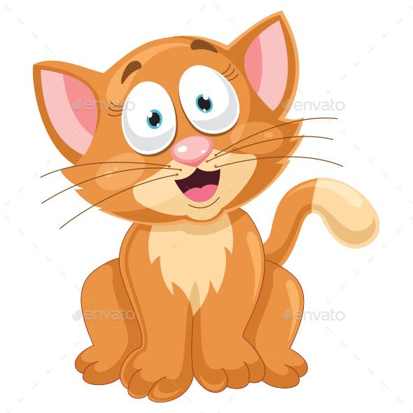 Cat Vector Illustration - Animals Characters