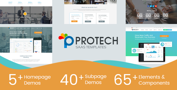 Image of Protech SaaS -  SaaS, Software & WebApp Template