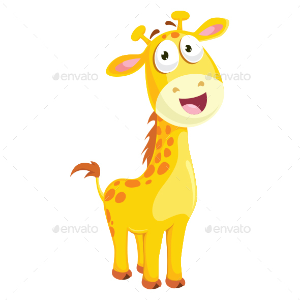 Giraffe Vector Illustration - Animals Characters