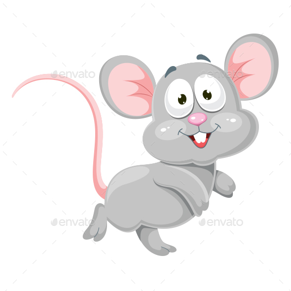 Mouse Vector Illustration - Animals Characters
