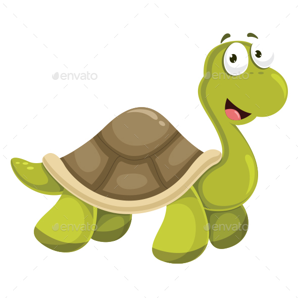 Turtle Vector Illustration - Animals Characters
